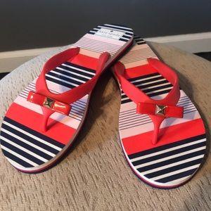 Kate Spade   Sailor Style Bow Flip Flops Size 9-10